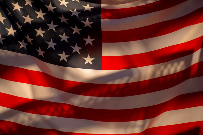 USA flag Red Flag Backgrounds No People Pattern Patriotism Striped Shape Full Frame Star Shape Close-up White Color Textile Studio Shot Outdoors Pride