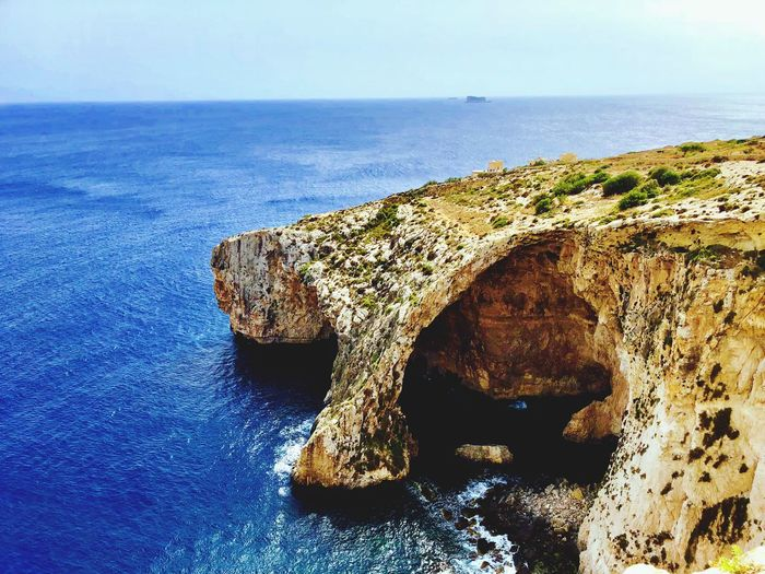 Malta Sea Water Horizon Over Water Horizon Land Nature Beauty In Nature No People Scenics - Nature Day Rock Blue Outdoors