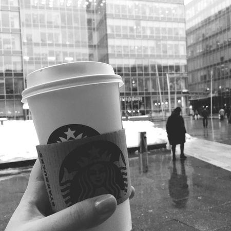 Just a working day?with ma coffee Coffee Starbucks Blackandwhite Working Moscow Eye4photography  EyeEm Best Shots Eye4black&white  Music Working Hard