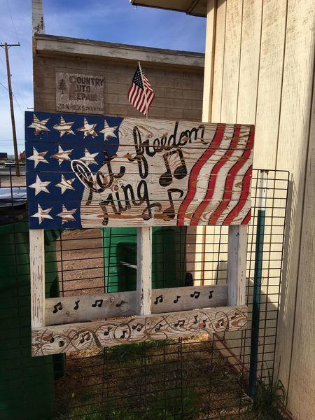 Winslow Arizona Patriotism Signboard