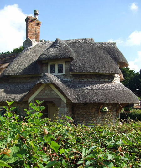 Cottage 🏡 Architecture Building Exterior Outdoors Built Structure Day No People Sky Nature Thatched Roof Thatched Cottage Blaise Hamlet Residence Cute Houses Architectural Feature Bristol Traditional Dwelling English Garden Cottage Garden  Country Cottage Cute House Settlement Hamlet Traditional English