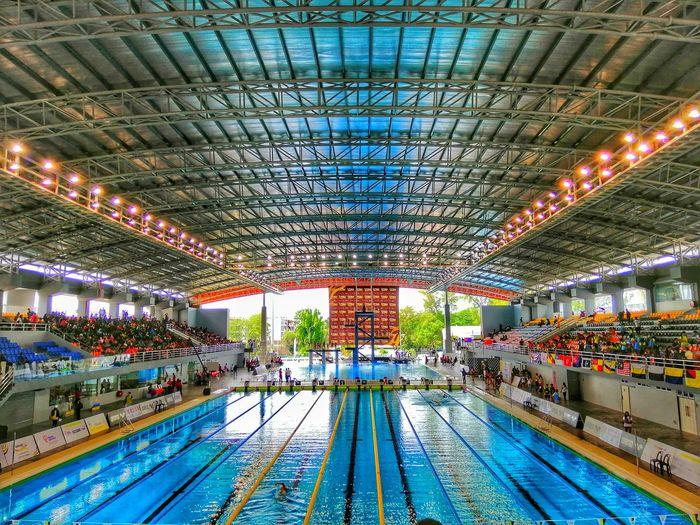 Interior Of Swimming Stadium