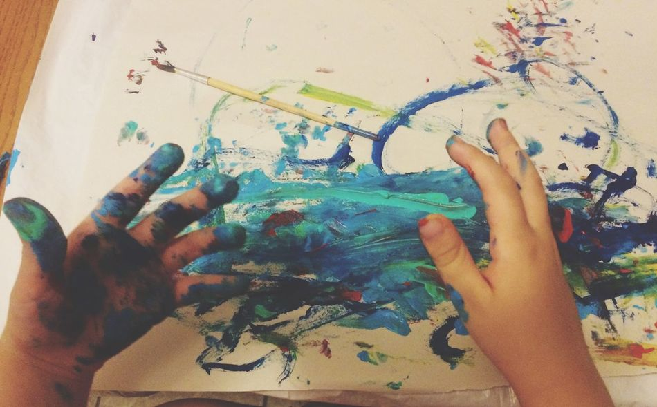 Part Of Person Messy Artist Childhood Fingers Hands Hands At Work Finger Painting Personal Perspective Creativity Art Art, Drawing, Creativity