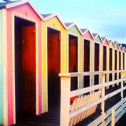 Sea Colors Beach Beachphotography Beach Day Beach Cabins Outside Photography No People