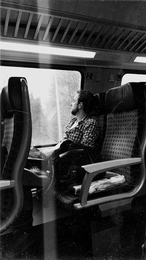 Train in a train
