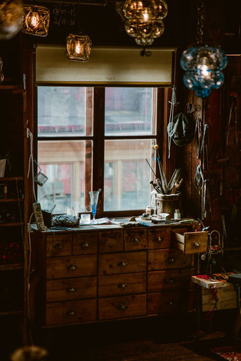 the craftman's table Crafts Brushes Artist Artist's Studio Studio Workshop Craftsmanship  Craft Workbench Retro Window Home Interior Craftsperson Window Frame Sculptor