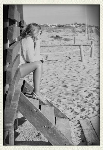 Waiting for the summer.. Hanging Out Beach Blackandwhite At The Beach