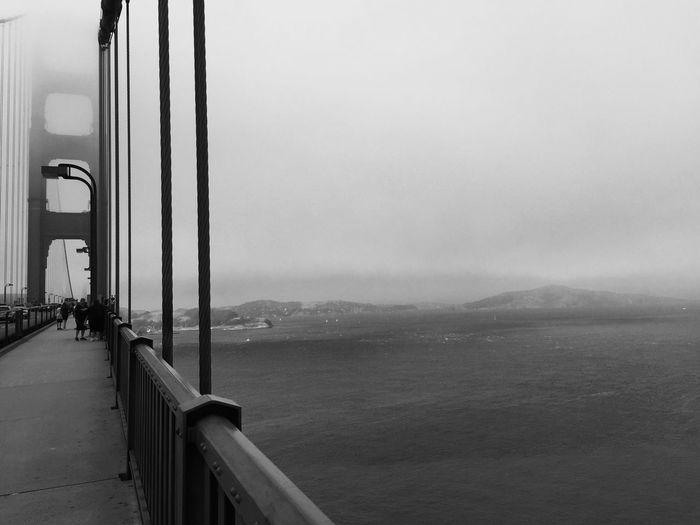 Bridge - California Fog Black And White B&w Bridge California EyeEmNewHere Golden Gate Sea Mountain Water Sky Transportation Scenics Day Nature Mountain Range No People Outdoors Built Structure Architecture Beauty In Nature