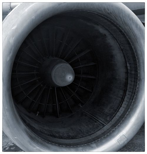Lines, Shapes And Curves Airplane Air Vehicle Jet Engine Transportation Engine Mode Of Transportation Close-up Turbine Technology Aerospace Industry No People Airport Commercial Airplane Industry Travel Machine Part Outdoors Day Metal Fuel And Power Generation