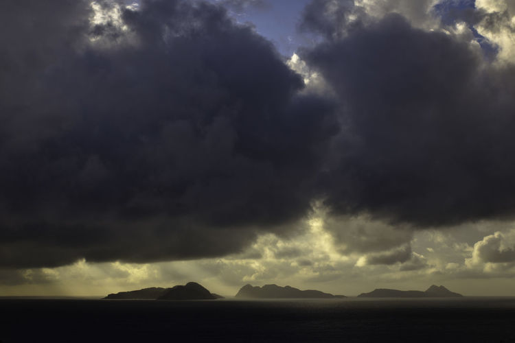 After The Rain Beauty In Nature Cloud - Sky Day Dramatic Sky Galicia Island Landscape Light Streaks Nature No People Outdoors Scenics Sea Sea And Sky Sky Storm Cloud Thunderstorm Tourism Tranquil Scene Travel Destinations Weather