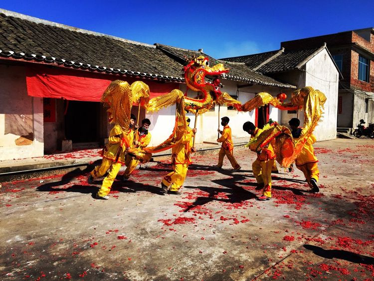 Dragon Dance during Chinese New Year in Hakka Ancient Culture village. Februaryphotochallenge