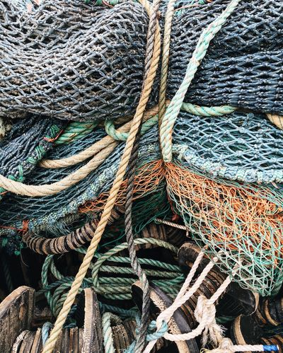 Scottish Islands EyeEmNewHere The Week On EyeEm Close-up Complexity Day Equipment Fishing Equipment Fishing Industry Fishing Net Fishing Tackle Full Frame Harbor High Angle View No People Outdoors Rope Strength Thick Tied Up EyeEmNewHere
