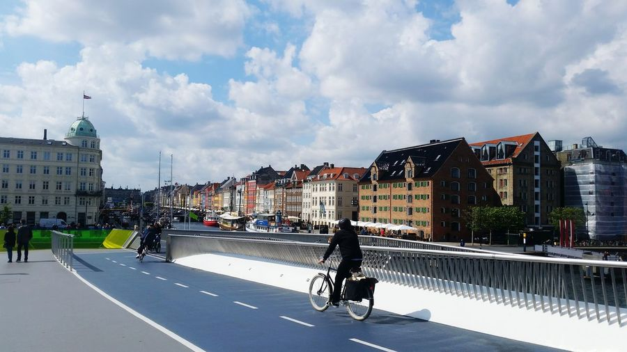 City Cloud - Sky People Architecture Outdoors Cityscape Sky Day Biking Bridge View Bridge Over Water Bridge Denmark 🇩🇰🇩🇰🇩🇰 Denmark Copenhagen Denmark Trips Around The World Travelphotography Travelgram Trip With Friends Traveller Travel Photography City Built Structure Water Building Exterior
