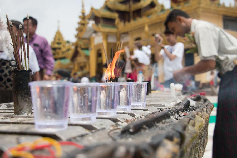 Believe.. By - Khant Htet Believe Men Myanmar People Pray Religion Shwedagon Pagoda Yangon Central