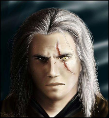1995paint 2017 Geralt Geralt Of Rivia Geralt Witcher3 HelgaPaint Man Sapkowski Witcher Ansonmount Art Face Fantasy Longhair One Person Portrait Scar Thewitcher