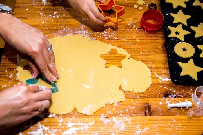 Banking Cooking Daughter Dough Flour Girl Hands Mum Preperation Woman