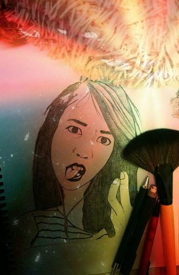 Awek rambut panjang lipstick pink. Sketching Fizafizafiza Drawing My Sketch ArtWork Fizaastory Kujieeeeee Iloveyou