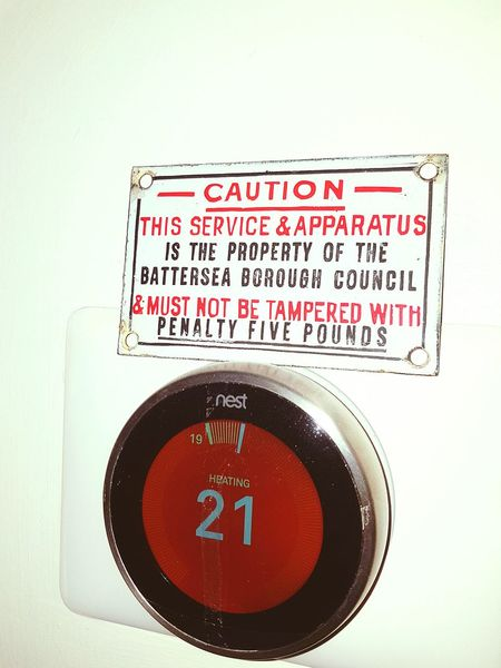 Tech IT Technology Control Panel Caution ⚠️ Caution Sign 5 Pounds Different Eras Battersea Just For Fun Funny Sign