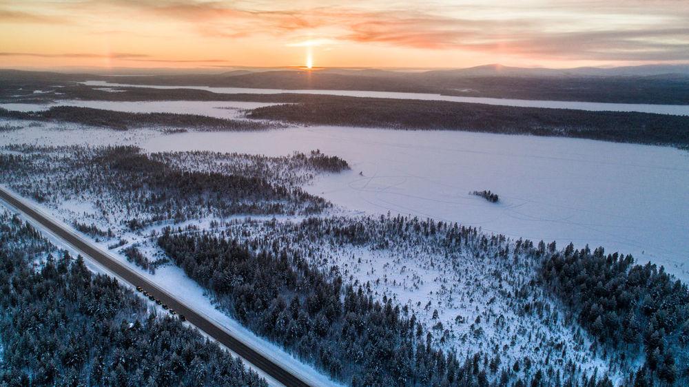 Kola Peninsula expedition Frozen Halo Effect Russia Wintertime Beauty In Nature Cold Temperature Evening Forest Halo Kola Kolapeninsula Lake Nature No People Outdoors Snow Sunset Winter