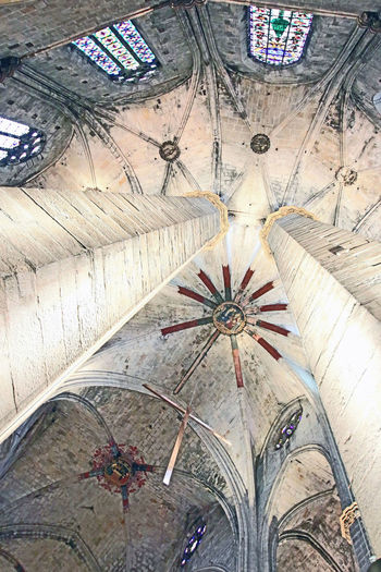 Architecture Barcelona Ceiling Gotic Architecture Indoors  No People Religion Side Aisle Vault St Maria Do Mar
