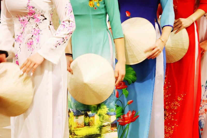 Chuc Mung Nam Moi  Lunar New Year Aodai Clothing Traditional Clothing Women Midsection Adult Lifestyles International Women's Day 2019
