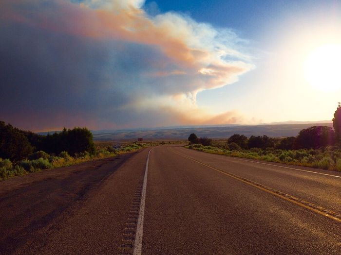 long road Sky Road The Way Forward Cloud - Sky Nature Transportation Outdoors No People Beauty In Nature Landscape