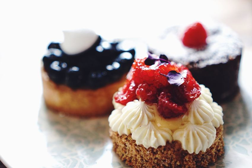 EyeEm Selects Sweet Food Food And Drink Indulgence Dessert Food Temptation Freshness Ready-to-eat Still Life Cake Unhealthy Eating Whipped Cream Strawberry Cream Plate Dessert Topping Indoors  Fruit Selective Focus Garnish