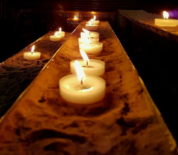 Flame Candle Burning Candlelight Illuminated No People Indoors  Close-up Prayer Candles Place Of Worship Bath Abbey
