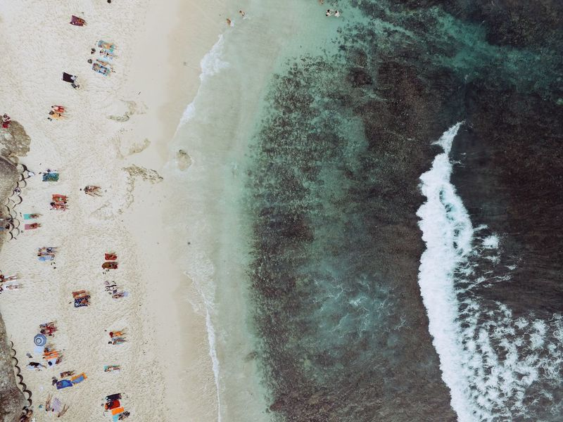 A Bird's Eye View From Above  Colour Of Life Vacations Purity Dream Beach Bali Balinese Lembongan Lembongan Island Beauty In Nature Wave Pattern Color Palette Eyeemphoto Blue Wave Cyan Rippled Aerial Shot Dji Phantom Colours Of Nature Beachphotography Tranquility Focus On Foreground Multi Colored