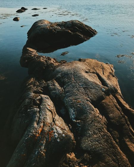Rock in water. Rock - Object Water Rock Formation Nature No People Sea Day Outdoors Tranquility Beauty In Nature