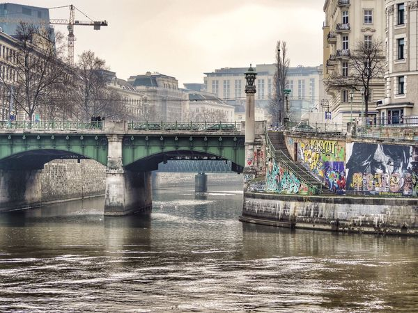 Donaukanal. Vienna (Austria). Vienna Bridge - Man Made Structure Connection Architecture Built Structure Water River Transportation Building Exterior City Waterfront Outdoors The Graphic City