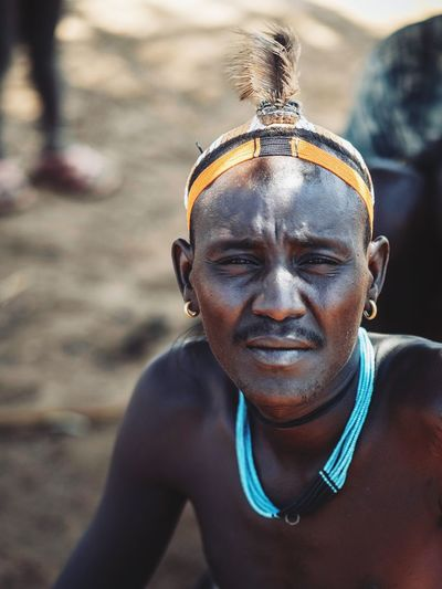 Portrait Of A Man  Tribe Tribes Tribal Ethiopian Photography 🇪🇹 Omo Valley Portraits Dassanech Tribe Ethiopian African Africa Portrait Lifestyles One Person Looking At Camera Front View Real People Headshot Leisure Activity Focus On Foreground Close-up Men Males  Sunlight Day Smiling Adult Mid Adult Outdoors