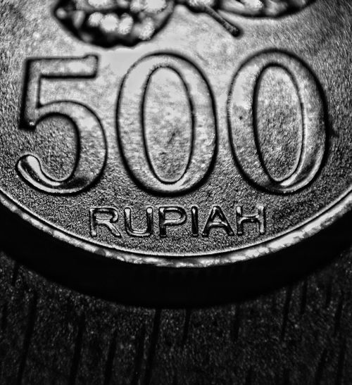 five hundreds rupiah Macro Macro Photography Five Economy Coin Currency Money Paper Currency Savings Full Frame Finance Wealth Backgrounds Close-up Money Silver  Cutlery Investment Piggy Bank Signboard Financial Item Text Written Information Capital Letter