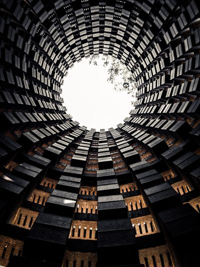 Architecture Built Structure Pattern Low Angle View Sky Day Nature No People Building Exterior Sunlight Geometric Shape Shape Directly Below Circle Building Design Architectural Feature EyeEmNewHere