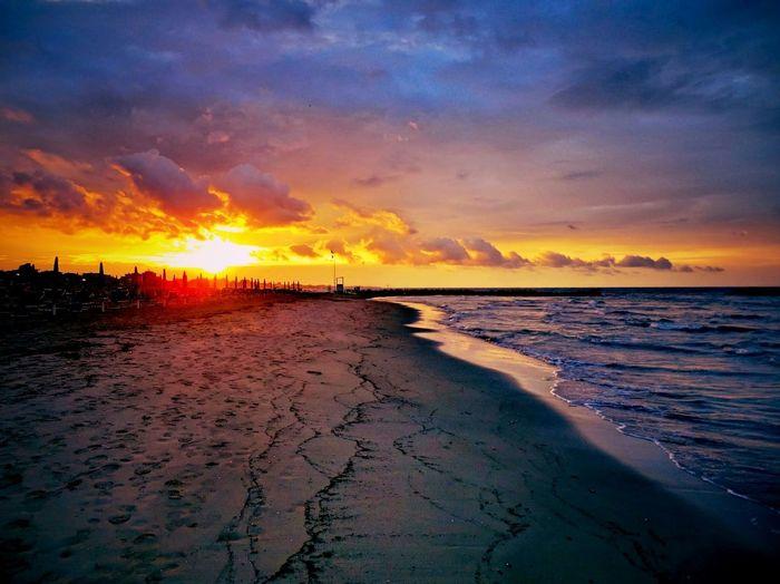 Tramonto a Rimini (Rivabella) Sunset Colourful Sea Beach Dream Tramonto Rivabella Adriatico Mare Sole