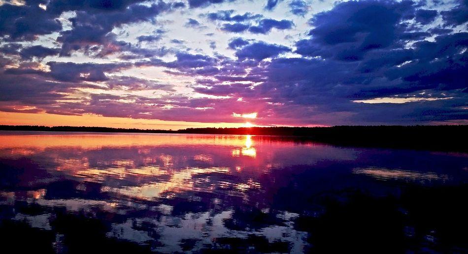 рассвет озеро Природа краски природы небо Солнышко красота умиротворение Relaxing Hello World за городом Beutiful Day Good Morning еткуль начало дня