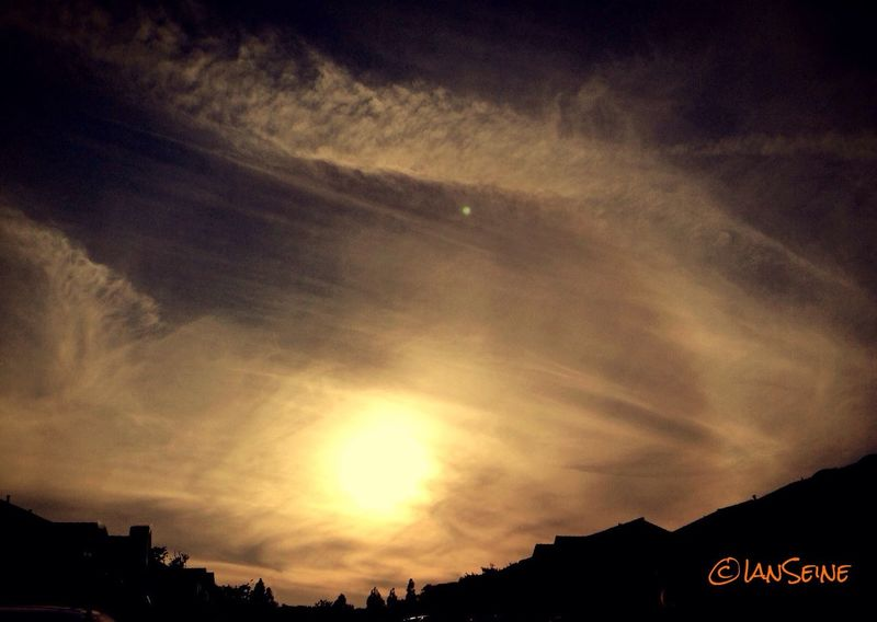 the Chemtrails are back creating an amaizing Sunset Chemtrails Sunset Cloudporn Sky_collection Landscape_Collection