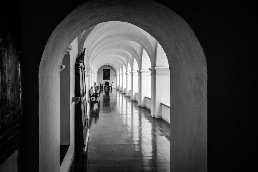 Arch Architecture Built Structure Corridor Day Indoors  No People Passage The Way Forward
