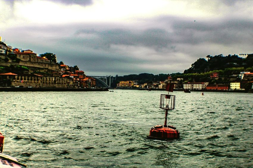 Cloud - Sky Outdoors Nautical Vessel Tranquility Travel Destinations Sky City Storm Cloud Storm Water Day No People Cityscapes Travel Check This Out EyeEm Gallery Oporto, Portugal Oporto Douroriver Porto, Portugal Cityscape Boya Buoy On The Water Buoy