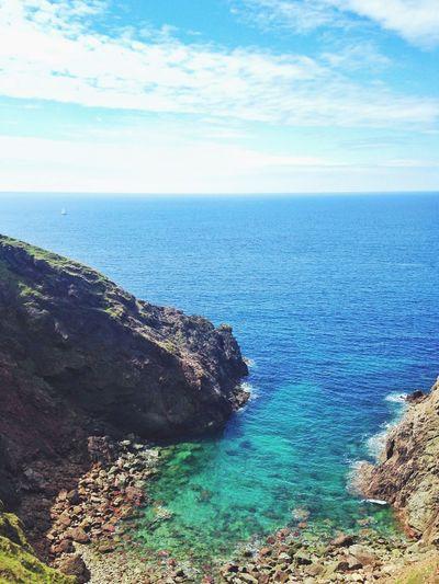 Ocean Cliffs Beach Sunshine Devon United Kingdom