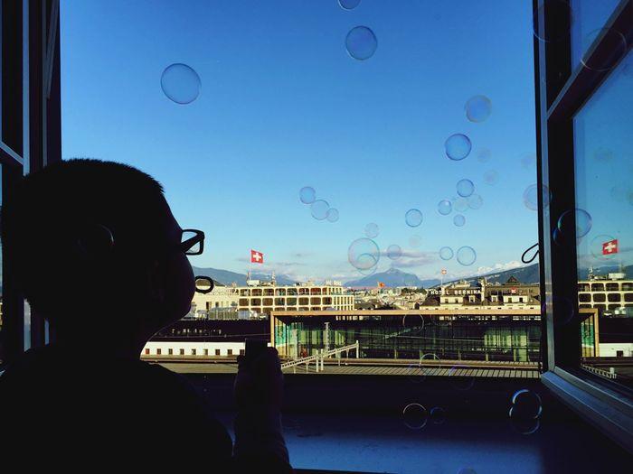 Bubbles IPhoneography EyeEm Best Shots EyeEm Best Edits Eye4photography  Traveling Bubbles Switzerland Window