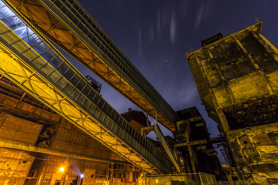 Architecture Building Exterior Built Structure City Cityscape Coalmine Dolni Oblast Vitkovice Factory Futuristic Illuminated Industry In City Industry Vs Nature Long Exposure Night Night Sky Outdoors Sky Space Star - Space Steel Factory Travel Destinations Urban Skyline Vitokovice