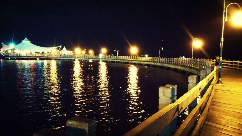 Night Photography Ancol Beach City Jakarta,indonesia Curves