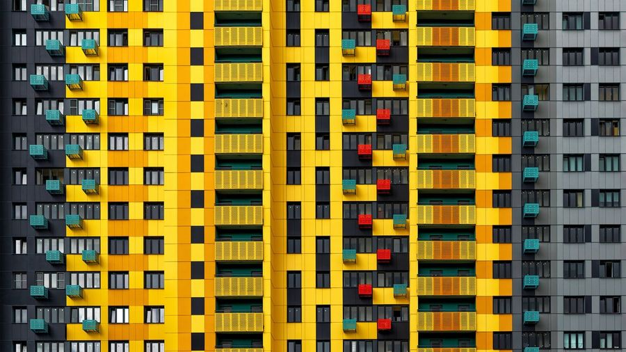 Full frame shot of yellow building
