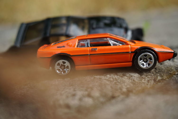 Close-up of toy car on land