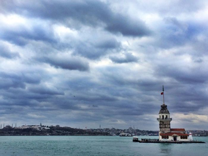 Kızkulesi Istanbul Cloud - Sky Sky Water Sea Building Exterior Travel Destinations City Waterfront