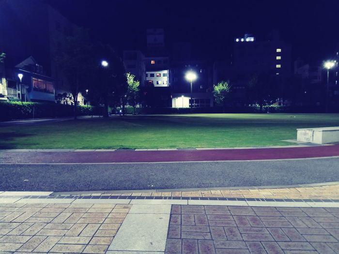 夜明け前 公園 鹿児島