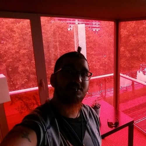 Coloured window balcony! Nofilter Hotelhesperiabilbao Bilbao Basquelife rooooooxanne youdonthavetoputontheredlight