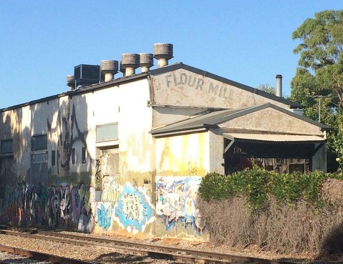 Old Mill in Brompton South Australia Griffiti Train Tracks Street Art Nofilter