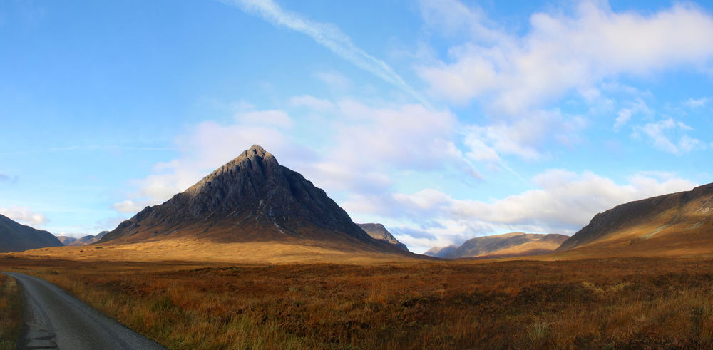 Buachaille Etive Mor Landscape Mountain Glencoe Glen Coe Panorama Panoramic Photography Panoramic View